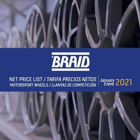 Braid Tarrif 2021